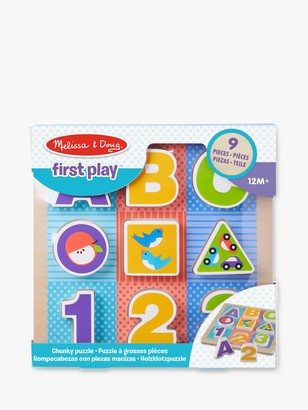 Melissa & Doug First Play Wooden ABC 123 Chunky Puzzle