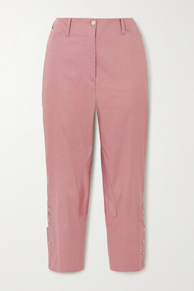 ÀCHEVAL PAMPA Al Beso Cotton-blend Tapered Pants - Pink