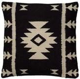 "Rizzy Home Black/Ivory Southwestern Stripe Throw Pillow 18""x18"" Rizzy Home®"