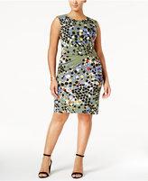 Anne Klein Plus Size Printed Sheath Dress