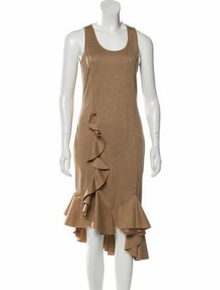 Givenchy Wool Midi Dress w/ Tags Tan