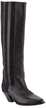 Golden Goose Nebbia Leather/Suede Cowboy Knee Boot