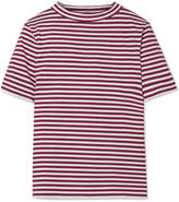 MiH Jeans Penny Striped Cotton T-shirt - Brick