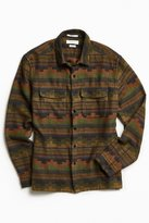 Urban Outfitters Blanket Pattern Jacquard Flannel Button-Down Shirt