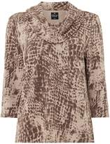 Tigi Printed Cowl Neck Top