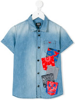 Armani Junior short-sleeved shirt - kids - Cotton - 10 yrs