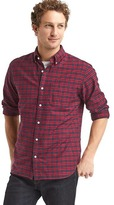 Gap Oxford tartan plaid standard fit shirt