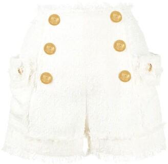 Balmain Button-Front Shorts