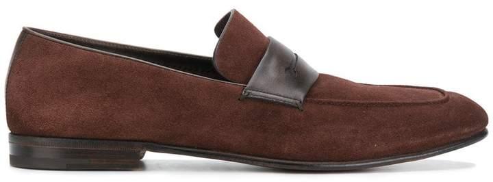 Ermenegildo Zegna contrast strap loafers