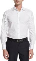 Etro Tonal Geo-Print Jacquard Sport Shirt, White