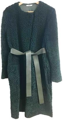 Celine Green Shearling Coats