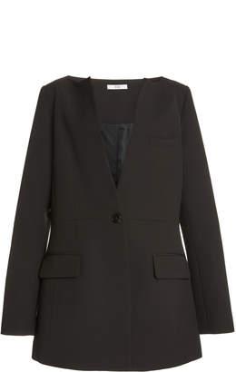 Co Collarless Wool-Blend Jacket