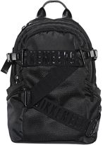 Bikkembergs Logo Straps Canvas & Mesh Backpack