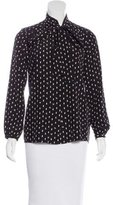 Steven Alan Silk Geometric Print Top