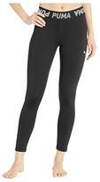 Puma Modern Sports Banded 7/8 Leggings Black/Mist Green) Women's Workout