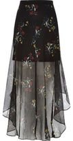 River Island Womens Black floral print chiffon maxi