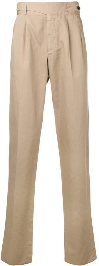 3da3227384 asymmetric button belt trousers