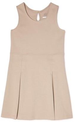 Wonder Nation Girls Plus School Uniform Stretch Ponte Pleated Knit Jumper Dress, Sizes 8-18
