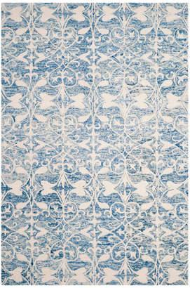 Safavieh Chatham Collection CHT765 Rug, Dark Blue/Ivory, 6'x9'