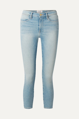 Frame Le High Cropped Skinny Jeans - Light denim