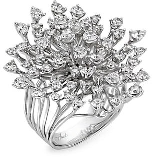 Hueb Luminus 18K White Gold & Diamond Statement Ring