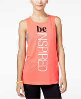 Energie Active Juniors' Madison Mesh Graphic Tank Top