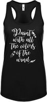 Indica Plateau Womens Paint with all the Colors of the Wind Racerback Tank Top