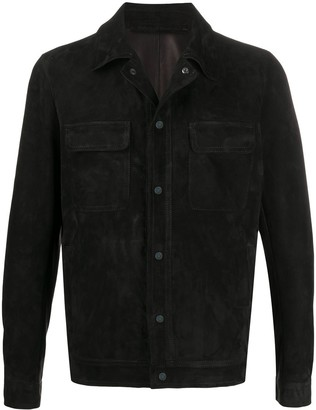 Salvatore Santoro Leather Shirt Jacket