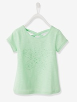 Vertbaudet Girls Openwork T-shirt