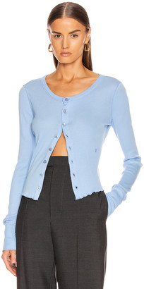 Helmut Lang Femme Cardigan in Pale Sapphire | FWRD