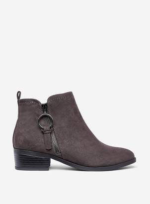 Dorothy Perkins Womens Wide Fit 'Mynor' Grey Ankle Boots, Grey