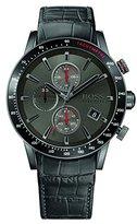 HUGO BOSS Rafale 1513445 / Black Leather Analog Quartz Men's Watch