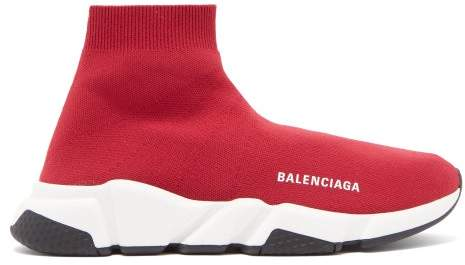 Balenciaga Speed Trainers - Womens - Red