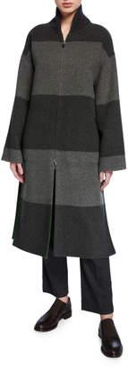Loro Piana Reversible Cashmere-Pile Zip-Front Coat