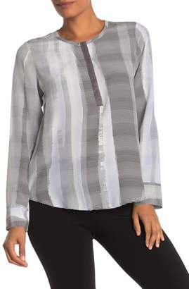 Go Silk Go by Elegant Beaded Snap Silk Blouse