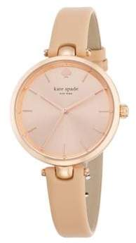 Kate Spade Holland Rose Goldtone Stainless Steel & Leather Strap Watch