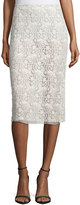 Nina Ricci Guipure-Lace Pencil Skirt, Cream
