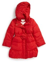 Kate Spade Toddler Girl's Rosette Down Puffer Jacket