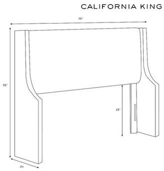 Mercury Row Maser Swoop Arm Upholstered Wingback Headboard Size: California King, Color: Zuma White