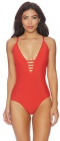 Athena Printed Lace Up One Piece