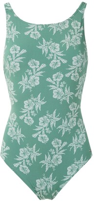 Track & Field Flores printed swimsuit