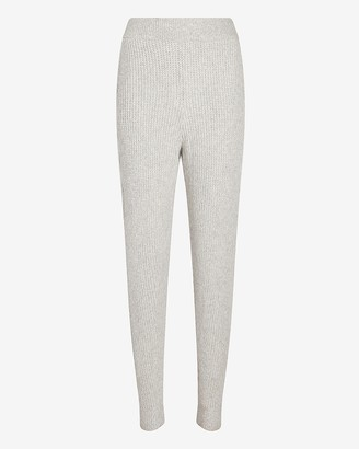 Express X You High Waisted Cable Knit Jogger Pant