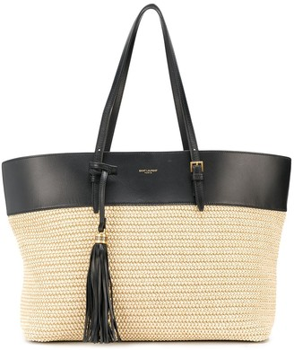 Saint Laurent Medium Raffia Shopping Tote