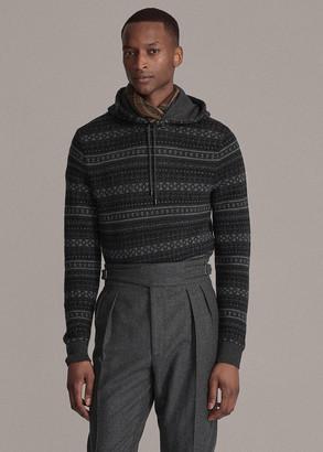 Ralph Lauren Fair Isle Cashmere Hooded Sweater