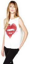 Lauren Moshi Riley Sleeveless Muscle Tank in White