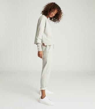 Reiss Heidi - Jersey Loungewear Joggers in Grey