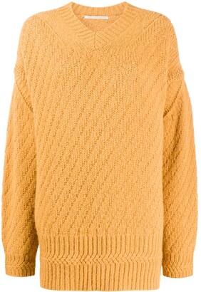 Stella McCartney oversized V-neck jumper