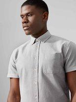 Frank + Oak The Jasper Oxford Marl-Cotton Shirt in Light Grey