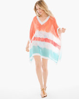 Chico's Havana Multi Tie-Dye Swim Cover-Up Poncho