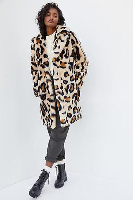 Sanctuary Collins Leopard Faux Fur Coat By in Assorted Size XS